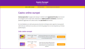 Recensione Casinoeuropei.online